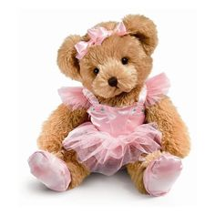 Bear in a Gift found on Polyvore featuring toys, fillers, pink, animals and teddy bears