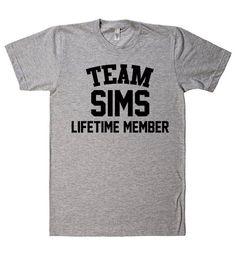 Team Name Lifetime Member T-Shirt SIMS