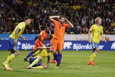 Vincent Janssen of Netherlands dejected during the FIFA World Cup Qualifier between Sweden and Netherlands at Friends arena on September 6, 2016 in Solna, Sweden.