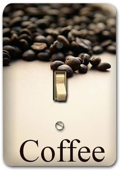 Fresh Coffee Bean Drink Metal Switch Plate