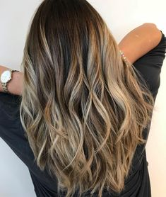 Balayage is the hottest dyeing technique right now. Check the chicest variants of balayage highlights and find out why you should give them a try too! Grey Balayage, Balayage Long Hair, Bronde Balayage, Balayage Brunette, Hair Color Balayage, Balayage Highlights, Caramel Highlights, Balayage Hairstyle, Bronde Hair
