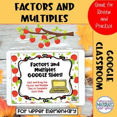 Upper Elementary Resources, Math Resources, Math Activities, Multiplication And Division Practice, Factors And Multiples, Mathematics Games, Flipped Classroom, Blended Learning, Task Cards