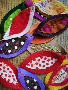 fabric and felt garland by @Sara Eriksson Eriksson Mincy of Sara's Art House