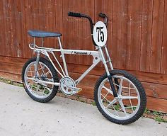 Click the photo to see more pics of this 1975 Kawasaki BX-200 old school vintage BMX bike.