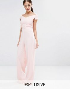 d6b42047efe Vesper Bardot Jumpsuit With Wide Leg