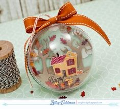 Happy Autumn Ornament by Betsy Veldman for Papertrey Ink (August 2015)