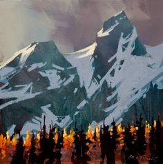 Light Peaks, Tantalus Range, by Michael O'Toole
