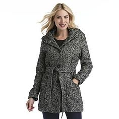 Alfani Petite Tweed Faux-Leather-Trim Jacket - Petite Jackets ...