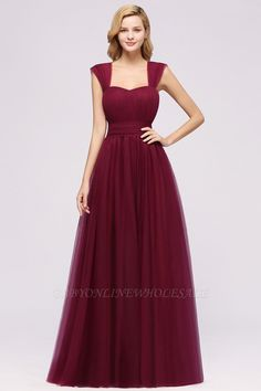 Babyonlinewholesale offers A-Line Popular Sweetheart Straps Sleeves Floor-Length Burgundy Bridesmaid Dresses Long, Affordable Bridesmaid Dresses, Bridesmaid Dresses Online, Lace Bridesmaids, Wedding Bridesmaid Dresses, Lilac Bridesmaid, Burgundy Wedding, Bride Dresses, Formal Dresses