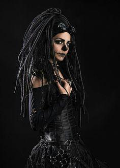Buble Gum, Urban Tribes, Gothic Photography, Goth Music, Gothic Chic, Dreads Girl, Evolution T Shirt, Cyberpunk Fashion, Emo Goth