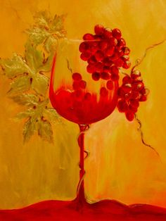 GRAPE LEAVES RED WHITE WINE GLASSES KITCHEN BOX CANVAS PRINT WALL ART PICTURE