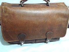 9898209efd Vintage-Genuine-Leather-Brown-Briefcase-Messenger-Fits-15-034-Laptop