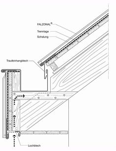 Larch Cladding, House Cladding, Detail Architecture, Architecture Drawings, Construction Drawings, Wood Construction, Roof Truss Design, Roof Trusses, Roof Detail