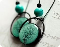 printed polymer clay by BeautySpot pm Etsy. I am drooling over this unusual bezel.  Can I buy these bezels somewhere? ?