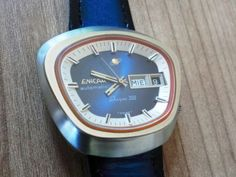 Enicar Sherpa 350 Automatic - Ungly or not? Well...I would not wear it.....but I LIKE it..prbably because it is blue!