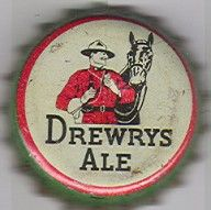 Drewrys Ale, beer bottle cap | Drewrys Ltd., USA, South Bend, Indiana USA | Cap used 1942-1943