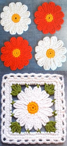Crochet Blanket Flowers Is Available For Free!Read More. Today I want to introduce you Crochet Blanket Flowers Pattern, Wonderful Crochet Project. I had long wondered Crochet Motifs, Crochet Flower Patterns, Crochet Squares, Crochet Flowers, Knitting Patterns, Blanket Crochet, Granny Squares, Flower Granny Square, Crochet Ideas