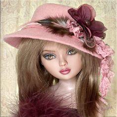 Ellowyne fashion doll hat http://itsadollhataffair.com