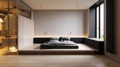 Modular Couch, Room Interior, Interior Design, Monochrome Interior, Couch Design, Modern Bedroom Decor, Condo Decorating, Minimalist Apartment, Contemporary Apartment