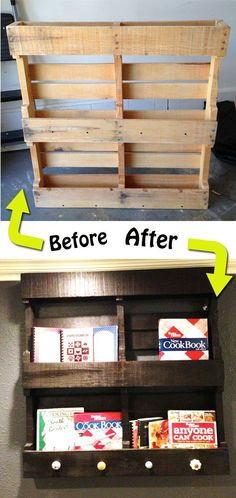 12 simple pallet furniture transformation ideas you can create for do it yourself kitchen rack wooden pallet solutioingenieria Images