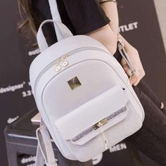 about Fashion Women's PU Leather Satchel Shoulder Backpack School Rucksack Bags Travel Fashion Women's Backpack School Pu Leather Travel Rucksack Satchel Shoulder Bags Cute Mini Backpacks, Stylish Backpacks, Girl Backpacks, Backpack Purse, Leather Backpack, Pu Leather, Leather Satchel, Fashion Bags, Fashion Backpack