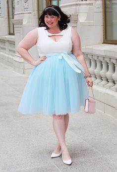 Plus Size Clothing for Women - Society+ Premium Tutu - Baby Blue - Society+ - Society Plus - Buy Online Now! - 1