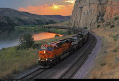 RailPictures.Net Photo: BNSF 6410 BNSF Railway GE ES44AC at Lombard, Montana by Mike Danneman