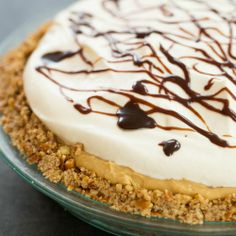 Chocolate-Peanut Butter Banana Cream Pie with Pretzel Crust | Brown Eyed Baker