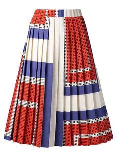 Suno Pleated A-line Skirt - Capitol - Farfetch.com