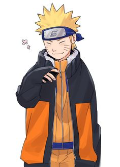 Naruto in his grown up jacket as a kid awww