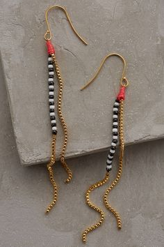 Dotted Plains Drop Earrings - anthropologie.com