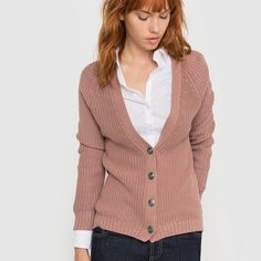 Image Ribbed Cardigan R essentiel