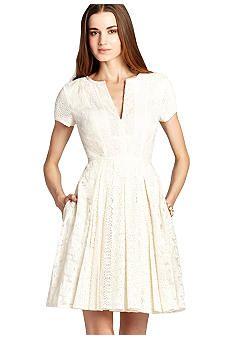 BCBGMAXAZRIA Crochet Shirt Dress - Belk.com