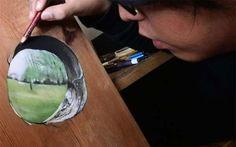 Hyperrealistische Zeichnungen: Ivan Hoo - Fotorealismus auf Holz