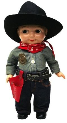 """Buddy Lee Doll, """"Cowboy"""", Front, 1940's"""