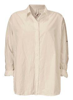 Aiayu Shirt - Økologisk bomuldsskjorte, farve Shell, 1000kr