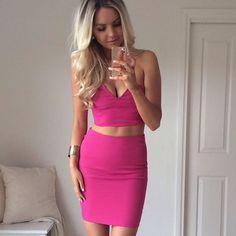 Pink Top + Skirt