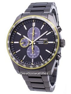 Seiko Solar SSC723 SSC723P1 SSC723P Chronograph Analog Men's Watch Stainless Steel Bracelet, Stainless Steel Case, Seiko Solar, Chronograph, Omega Watch, Watches For Men, Accessories, Wristwatches, Men's Watches