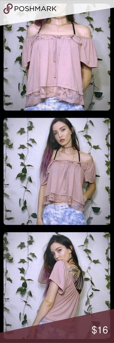 """💖Pink Babydoll Crop Top!💖 💖Pink babydoll crop top! Looks cute paired with pastel colors! In good condition! I'm 5'6"""" as a reference!💖 American Rag Tops Crop Tops"""