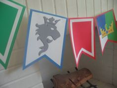 Lego Knight's Party Part II Tangarang Lego Ritter, Boy Birthday, Birthday Parties, Castle Party, Medieval Party, Medieval Banner, Dragons, Lego Knights, Knight Party