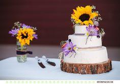 Wedding cheesecake - Megin and Seth's Stevensville Montana Wedding - Photos by Kristine Paulsen Photography