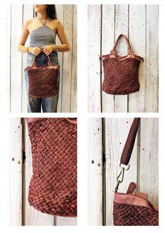 """Handmade woven leather bag """"INTRECCIATO 86 mini"""" di LaSellerieLimited su Etsy"""