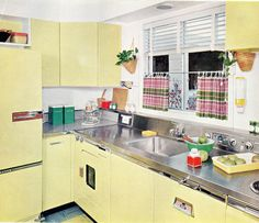 1957 yellow kitchen design.