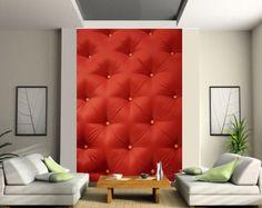 Papier-peint-geant-2-les-tapisserie-murale-deco-Capitonne-rouge-ref-103