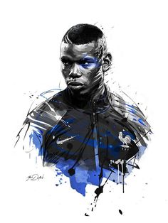 Two illustrations of Paul Pogba,superstar of french soccer team for ESPN Magazine. Art Football, Football 2018, Soccer Art, Football Match, Soccer Teams, Paul Pogba, Pogba Wallpapers, Manchester United, Pogba France