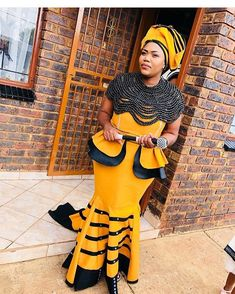 Ankara Dress Styles, African Wear Dresses, African Attire, African Clothes, African Design, African Style, African Beauty, Traditional Wedding Dresses, Traditional Outfits