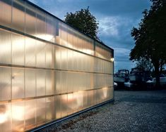 Plastic Cladding, Factory Design, Glass House, Front Porch, Tiny House, Facade, Architecture Design, Sheds, Gallery