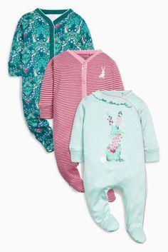 קנה מארז שלישיית חליפות שינה בצבעי טורקיז עם ארנבונים (0 חודשים-2 שנים) לקנייה היום באתר נקסט ישראה