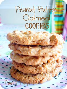 Peanut Butter Oatmeal Cookies. Go ahead and serve for breakfast.