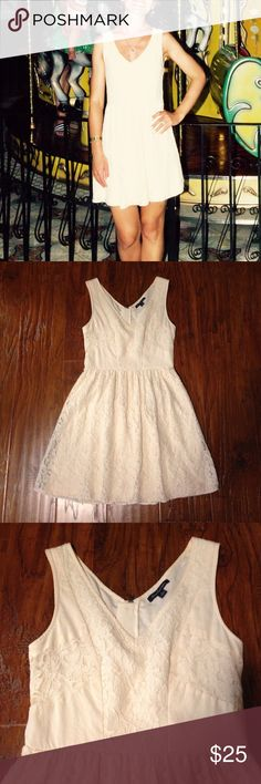 American eagle off white lace summer dress Off white perfect for summer dress. No stains, no tears. Great condition American Eagle Outfitters Dresses Mini